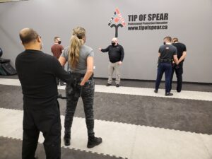 Handcuffing training for security guards in Alberta Canada